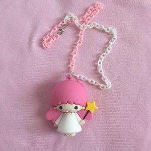 Twin stars girl handmade chain necklace
